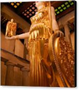 Athena With Nike Canvas Print by Kristin Elmquist
