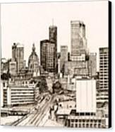 Atlanta Skyline Canvas Print by Pamir Thompson