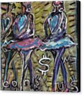Atomic Ballet Canvas Print by Robert Wolverton Jr