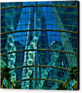 Atrium Gm Building Detroit Canvas Print by Chris Lord