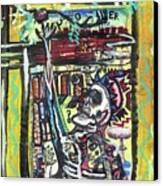 Attic Window Canvas Print by Robert Wolverton Jr