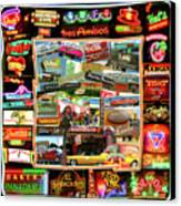 Atx Restaraunt Montage Canvas Print by Andrew Nourse
