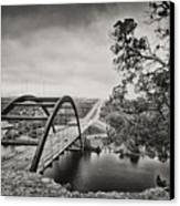 Austin 360 Bridge In Early Dawn Canvas Print by Lisa  Spencer