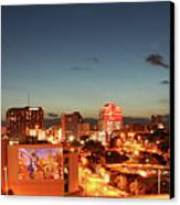 Austin Night Canvas Print by Andrew Nourse