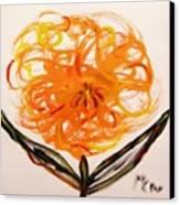 Autumn Hope Flower Canvas Print by Mary Carol Williams