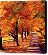 Autumn In Vermont Canvas Print by David Lloyd Glover