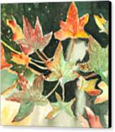 Autumn Leaves Canvas Print by Arline Wagner