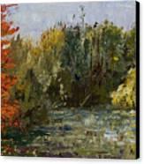 Autumn  Pond Canvas Print by Nancy Albrecht