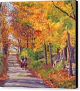 Autumn Ride Canvas Print by David Lloyd Glover