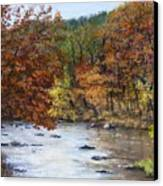 Autumn River Canvas Print by Jack Skinner