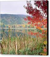 Autumn Scenic Acadia National Park Maine Canvas Print by George Oze
