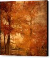 Autumn Tapestry - Lake Carasaljo Canvas Print by Angie Tirado