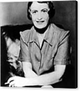 Ayn Rand, 1957 Author Of Atlas Shrugged Canvas Print by Everett