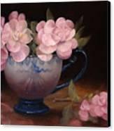 Azaleas In A Cup Canvas Print by Loretta Fasan