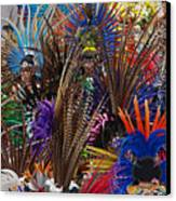 Aztec Feather Dancers - Mexico Canvas Print by Craig Lovell
