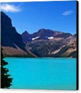 Azure Blue Mountain Lake Canvas Print by Greg Hammond