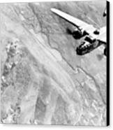 B-25 Bomber Over Germany Canvas Print by War Is Hell Store
