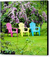 Back Yard Tranquility Canvas Print by Jim  Calarese
