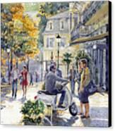 Baden-baden Sophienstr Last Warm Day Canvas Print by Yuriy  Shevchuk