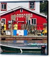 Bailey Island Lobster Pound Canvas Print by Susan Cole Kelly