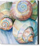 Balance In Spirals Watercolor Painting Canvas Print by Michelle Wiarda