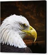 Bald Eagle - Freedom And Hope - Artist Cris Hayes Canvas Print by Cris Hayes