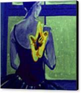 Ballerine En Hiver Canvas Print by Rusty Woodward Gladdish