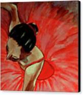Ballerine Rouge Canvas Print by Rusty Woodward Gladdish