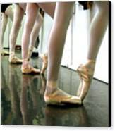 Ballet In Studio Canvas Print by Chiara Costa