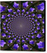 Balloon Flower Kaleidoscope Canvas Print by Teresa Mucha