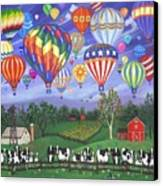 Balloon Race Two Canvas Print by Linda Mears