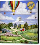 Ballooning In The Country One Canvas Print by Linda Mears