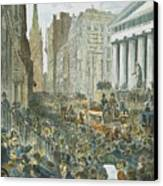 Bank Panic, 1884 Canvas Print by Granger