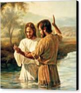 Baptism Of Christ Canvas Print by Greg Olsen