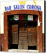 Bar Salon Corona Canvas Print by Mexicolors Art Photography