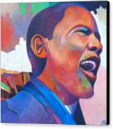 Barack Obama Canvas Print by Glenford John