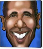 Barack Obama Canvas Print by Kevin Middleton