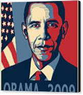 Barack Obama Presidential Poster Canvas Print by Sue  Brehant