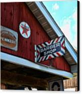 Barber - Old Barber Shop Sign Canvas Print by Paul Ward