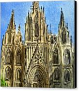 Barcelona Spain Canvas Print by Irina Sztukowski