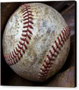 Baseball Close Up Canvas Print by Garry Gay