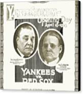 Baseball Program, 1923 Canvas Print by Granger