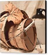 Baskets With Crock I Canvas Print by Tom Mc Nemar