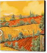 Bassa Toscana Canvas Print by Guido Borelli
