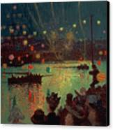 Bastille Day At Lorient Canvas Print by Henry Moret