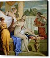 Bathsheba Bathing Canvas Print by Sebastiano Ricci