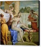 Bathsheba Bathing Canvas Print by Sebastiano Ricci