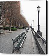 Battery Park Canvas Print by Michael Peychich