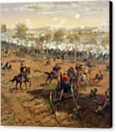 Battle Of Gettysburg Canvas Print by Thure de Thulstrup