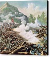 Battle Of Kenesaw Mountain Georgia 27th June 1864 Canvas Print by American School